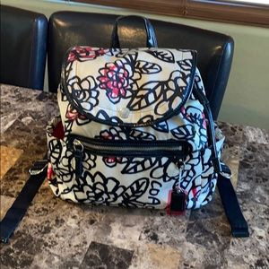 Coach Poppy Floral Graffiti BackPack